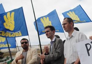 ВО Свобода - Партія регіонів - Свобода не сприймає всерйоз  заяви ПР про боротьбу з міфічним фашизмом
