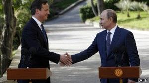 Кемерон і Путін не дійшли згоди щодо Сирії