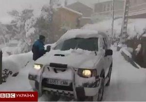 Іспанію завалило снігом
