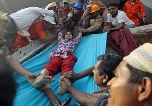 Бангладеш - обвалення - будівля