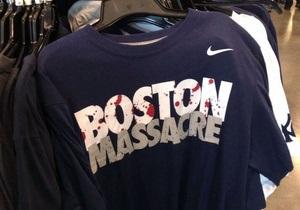 Футболки Nike с надписью Бостонская резня изъяли из продажи