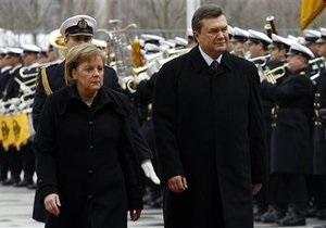 Меркель: Україна ще не готова до угоди про асоціацію