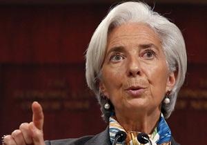 МВФ - Крістін Лагард - Глава МВФ вважає загрозу з боку банків  більш небезпечною, ніж коли-небудь