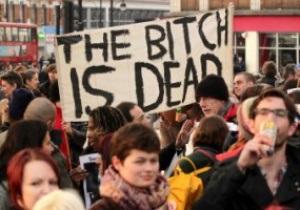 Фаны Ливерпуля с большой радостью отпраздновали весть о смерти Тэтчер