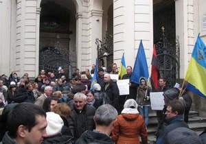 Вставай, Україно! - опозиція - Прага - У Празі відбулася акція опозиції Вставай, Україно!