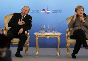 Меркель і Путін на Ганноверському ярмарку: політика в тіні економіки