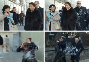 Мітинг - опозиція - сніжки - Партія регіонів - Опозиція відхрестилася від інциденту зі сніжками на мітингу під Радою