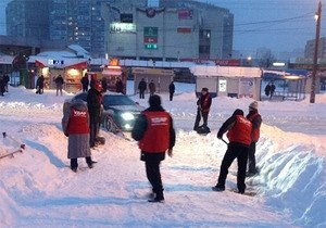 У ПР звинуватили УДАР у піарі під час снігопаду у Києві