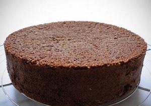Рецепт: Шоколадний бісквіт за п ять хвилин
