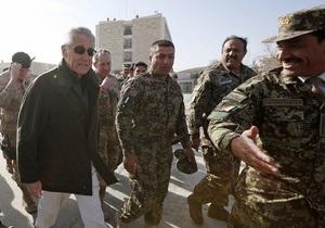 США - Афганістан - Глава Пентагону Чак Хейгел спростував слова Карзая про переговори США з талібами