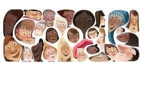 8 березня - жінки - Google змінив логотип на честь Міжнародного жіночого дня