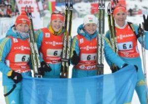 Украинки выиграли серебро чемпионата мира по биатлону
