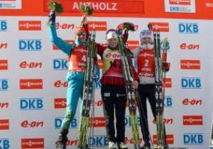Украинка Пидгрушная завоевала серебро в гонке преследования