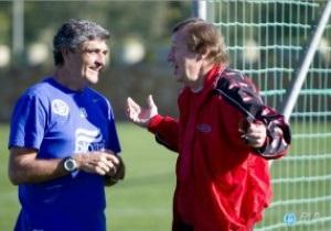 Семин посетил тренировку Днепра в Испании