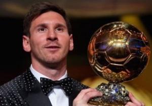 Золотой мяч-2012: Месси в четвертый раз подряд поднял над своей головой Золотой мяч