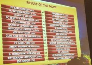 Все пары 1/16 и 1/8 финала Лиги Европы