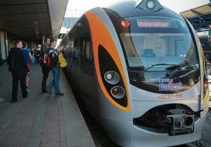 В Днепропетровске открыли движение нового скоростного поезда Hyundai