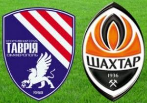 Таврия - Шахтер. Матч украинской Премьер-лиги