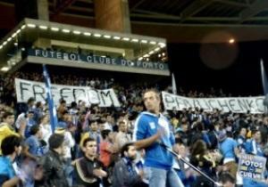 Фанаты Порту поддержали протест украинских болельщиков