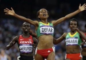 Эфиопская бегунья Месерет Дефар завоевала золото Олимпиады-2012 на дистанции 5000 м