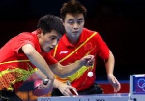 Китайская мужская пара выиграла золото Олимпиады-2012 в настольном теннисе