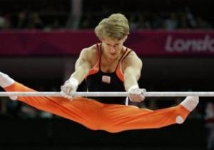 Голландский гимнаст Эпке Зондерланд выиграл золото Олимпиады-2012 в упражнениях на перекладине