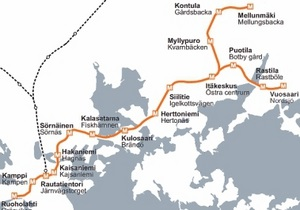 Метро в Хельсінкі довелося зупинити через чоловіка, який тікав від медиків і поліцейських