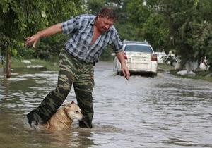 Влада: Паводок на Кубані завдав збитку на суму понад 4 млрд рублів