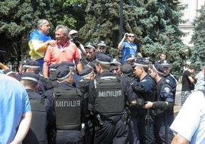 Міліція заявляє, що Беркут не залучався до зносу наметового містечка в Черкасах