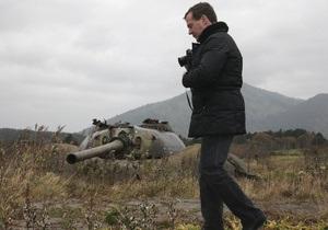 Медведєв заявив, що йому байдужа реакція Японії на його відвідування Курил