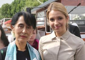 Донька Тимошенко зустрілася з лауреатом Нобелівської премії миру
