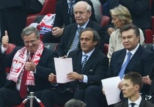 Янукович і Коморовський разом подивляться фінальний матч Євро-2012