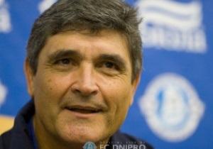 Хуанде Рамос хочет вывести Днепр в еврокубки, чтобы улучшить общий уровень украинского футбола