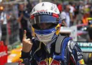 Феттель третий год подряд завоевал поул на Гран-при Европы