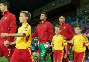 Сын Добкина выводил Криштиано Роналдо на поле харьковского стадиона