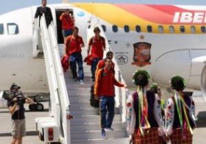 Сборная Испании прибыла в Донецк