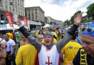 Фотогалерея: У Київ почали прибувати фанати збірної Англії