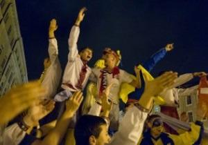Фотогалерея: Приближали, как могли.  Как Украина поддерживала сборную