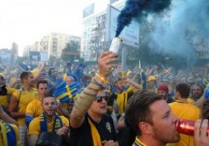 Фотогалерея: Highway to hell. Шведы прошлись маршем на проигранный матч с Украиной