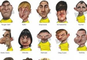 Фотогалерея: Как казаки в футбол играли. Карикатуры на всех игроков Евро-2012