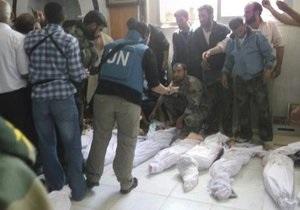 РБ ООН засудила масові вбивства у сирійському місті Хула