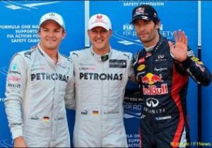 Гран-при Монако: Шумахер выиграл квалификацию, но с поула стартует Уэббер