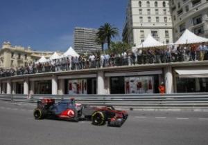 Баттон показал лучшее время на второй практике Гран-при Монако