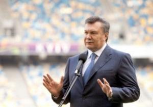 Янукович: Обязательно планирую бывать на матчах Евро-2012
