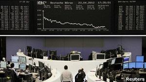 Європейські біржі лихоманить через ситуацію в Іспанії та Греції