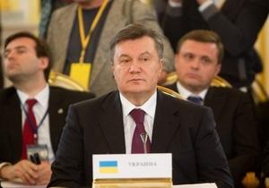 Янукович просить перенести головування України у СНД з 2013 на 2014 рік
