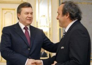 Янукович утверждает, что Украина оправдала доверие UEFA