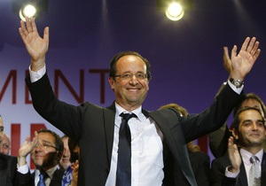 Зарубіжні лідери вітають Олланда з перемогою на виборах президента Франції