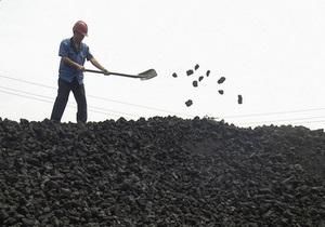 Україна на початку 2012 року суттєво наростила видобуток вугілля