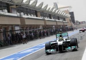 Росберг стал лучшим на второй практике Гран-при Бахрейна